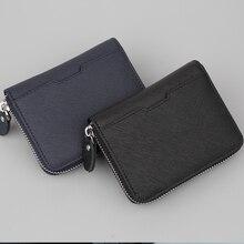Leather Men Wallets Short Purse Casual Men's Wallet Small Purses Zipper Men Wallets Male Coin Purse Mini Card Holder cartera short men wallets 100
