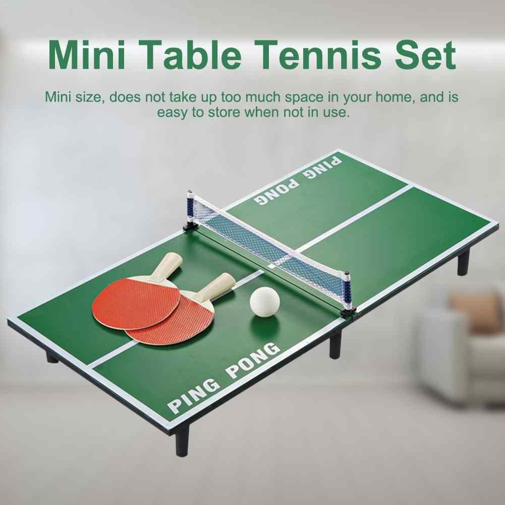 1 ชุด Mini ตารางเทนนิสชุดไม้ปิงปองตารางแบบพกพาชุดเกมกีฬาความบันเทิงของเล่นสำหรับเด็กเด็ก
