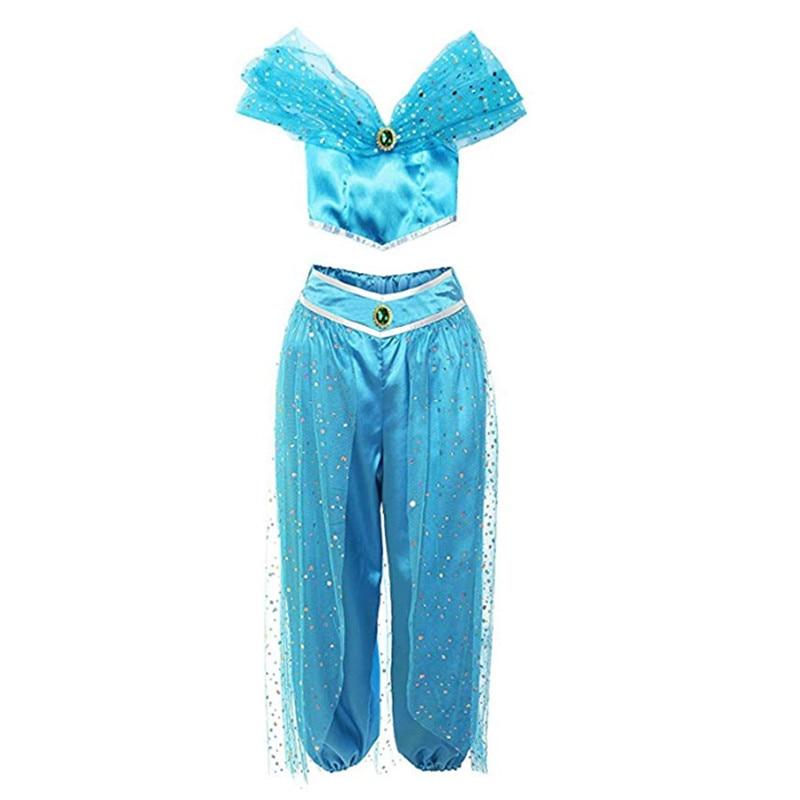 Ретро Хэллоуин взрослых женские костюмы для косплея Декор Blattern рок Хэллоуин женщин s Девочек Принцесса Жасмин платье на Хэллоуин Горячая