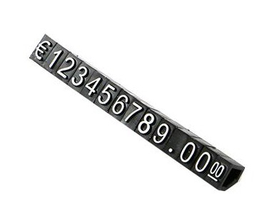30 Sets Combined Price Label Euro Snap Number Digit Cubes Stick For Clothes Phone Laptop Jewelry Showcase Counter Display Sign