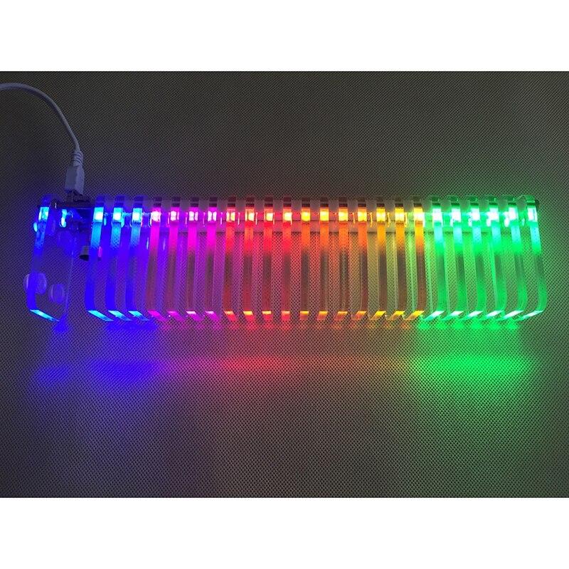 KS25 contrôle du son VU mètre cristal son colonne Audio niveau mètre LED spectre de musique bricolage Kits VU tour pour Home cinéma