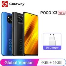 Versão global xiaomi poco x3 nfc 6gb 64gb/128gb celular snapdragon 732g 64mp quad câmera 6.67 hz 120hz 5160mah 33w carga