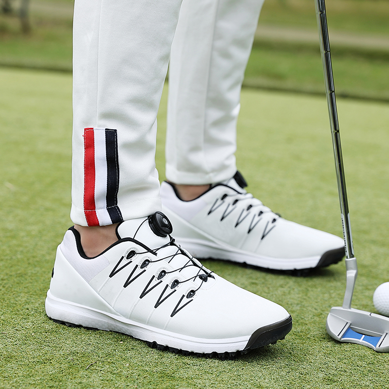 Waterproof Mens Golf Shoes Big Size 39-47 Men Golf Training Sneakers Black White Spikes Golf Trainers For Men Brand Shoes
