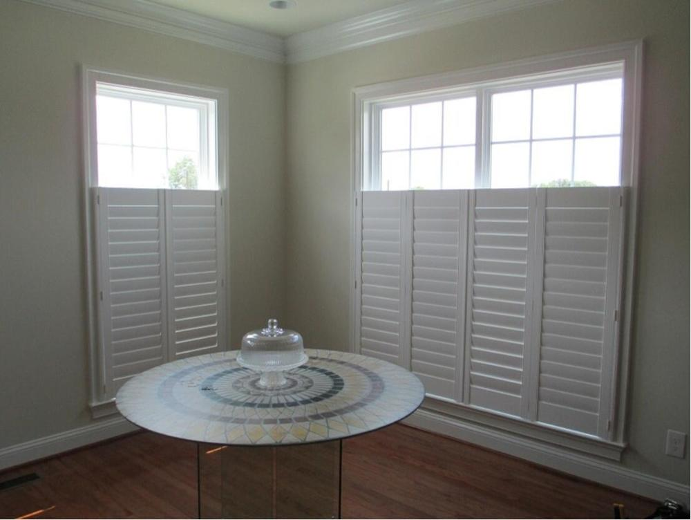 Custom Basswood Plantation Shutters Wooden Blinds Solid Wood Shutter Louvers PS231