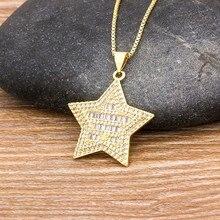 Collier classique en forme d'étoile en or breloque collier, chaîne ras du cou avec strass, meilleur bijou de fête de danse d'anniversaire
