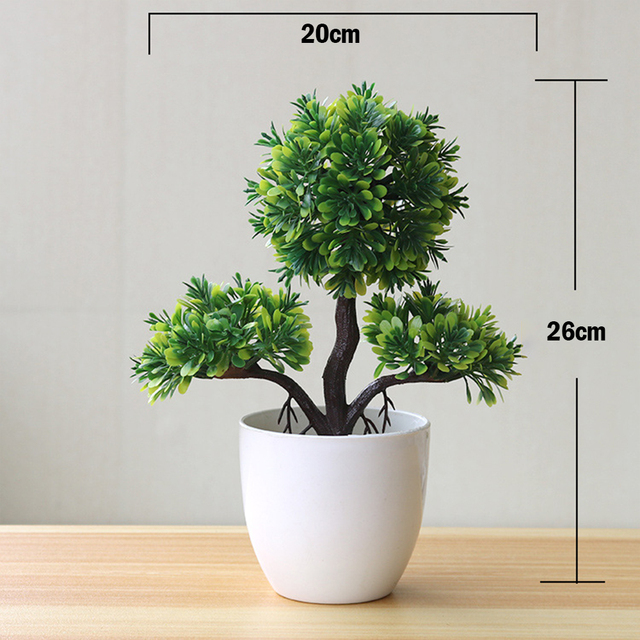 Artificial Plants Potted Bonsai Green Small Tree Plants Fake Flowers Potted Table Ornaments For Home Garden Party Hotel Decor 2