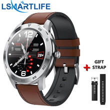 DT98 Smartwatch IP68 방수 스마트 블루투스 전화 ECG 혈압 남자 1.3 인치 전체 터치 스크린 피트니스 트래커