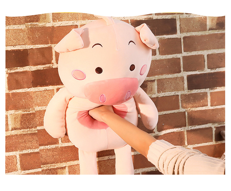 large 120cm lovely pink pig plush toy down cotton soft cartoon pig doll hug pillow birthday gift b0859