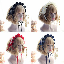 Japanese-style SOFT Girl Lolita Lolita Lace Headdress Sweet Hair Band BNT Bandage Cloth Poison Mushroom Angel Handle(China)