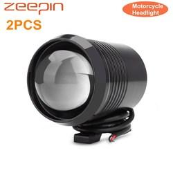 2 sztuk U2 reflektor motocyklowy 1200 lm 30W górna wysoka martwa wiązka lampa błyskowa LED jazdy Spot Head żarówka reflektor czarny srebrny na