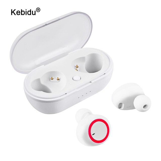 Kebidu Drahtlose TWS Bluetooth 5,0 Kopfhörer Stereo Ohrhörer Sport Kopfhörer Freisprecheinrichtung Gaming Headset für Telefon mit Mic Wasserdicht