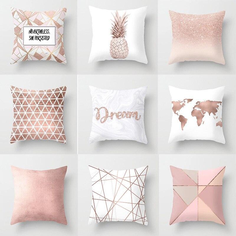 Geometric Polyester Shining Throw Pillow Case Sofa Cushion Cover Home Decor New