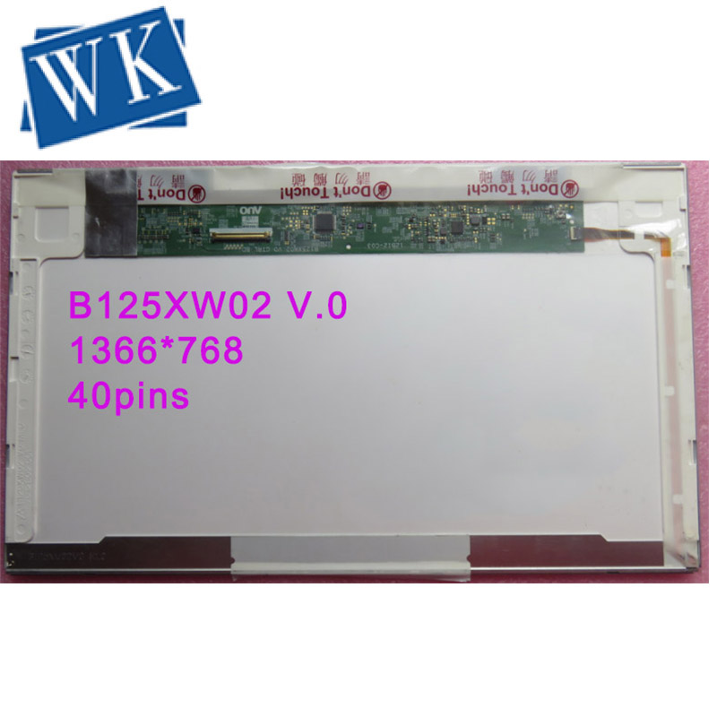 Free Shipping B125XW02 V.0 LTN125AT02 LP125WH1 For HP 2560p 2570p Laptop Lcd Screen 1366*768 40pin