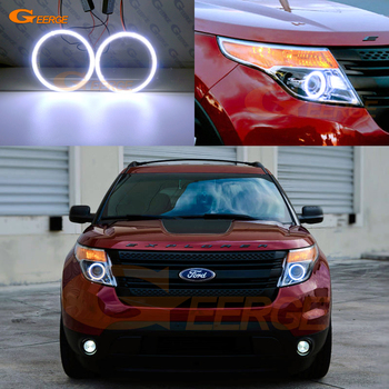 цена на For Ford Explorer 2011 2012 2013 2014 2015 Excellent Ultra bright illumination COB led angel eyes kit halo rings