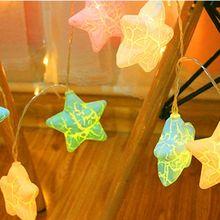 40 LEDs Cracks Star String Light Lovely Decorative LED Party Holiday Lamp Home Q84D for LED