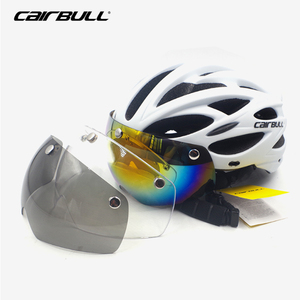 Image 2 - Bicycle with One piece mountain mtb road bike helmet Breathable Bilateral Powermeter Removable riding Casco Ciclismo accessorie