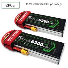 GTFDR RC Battery 11.1V 6500MAH 80C-160C 3S XT60 EC5 XT90 DEANS XT150 Lipo Battery Batteria RC Car Boat Plane Quadcopter Battery(China)