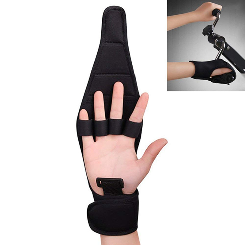 Anti-Spasticity Finger Rehabilitation Auxiliary Gloves Hand Grip Finger Recovery Relax Grip Assist Impairment Fixed Hand Glove