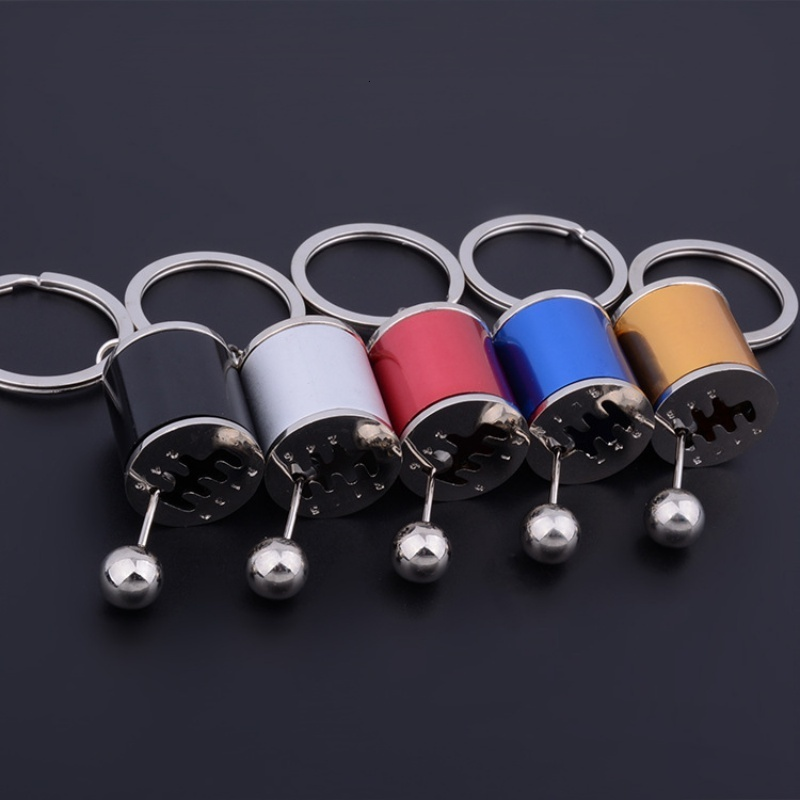 Metal Anti Stress Fob Keyring Creative Car 6 Speed Gearbox Gear Fidget Toy Shift Racing Tuning Model Keychain Novelty Car Toys