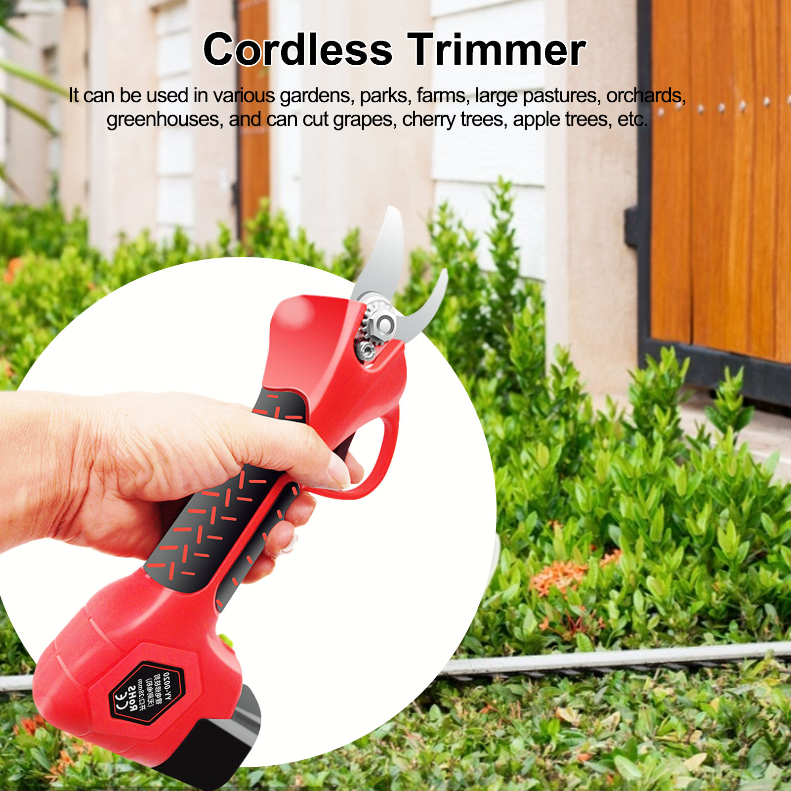 300 W 16 8V Cordless Pruner Hand-held Electric Pruner Shear with 2 Battery Efficient Fruit Tree Bonsai Pruning Branches Cutter