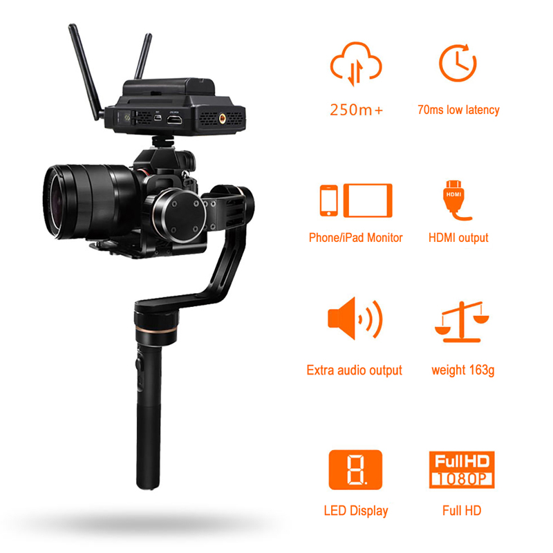 Image 2 - CVW SWIFT 800 800ft Wireless Video Transmission System HDMI HD image Wireless Transmitter Receiver Support smartphone MonitorPhoto Studio Accessories   -