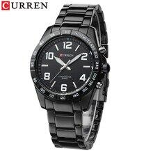 Mens Watches Quartz CURREN Clock Stainless-Steel Waterproof Casual Fashion Relogio Masculino