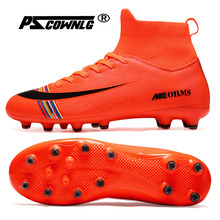 Man High Top Ankle Football Train Shoes Turf TF Flat Classic Soccer Boots Women Sneakers Lightweight Kids Indoor Turf Futsal