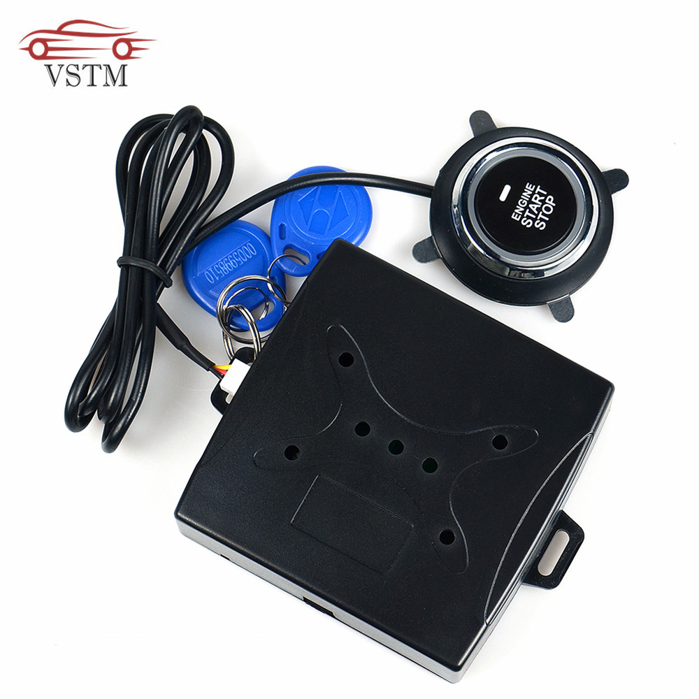 2019 Auto Car Alarm One Start Stop Engine Starline Push Button RFID Lock Ignition Switch Keyless Entry Starter Antitheft System