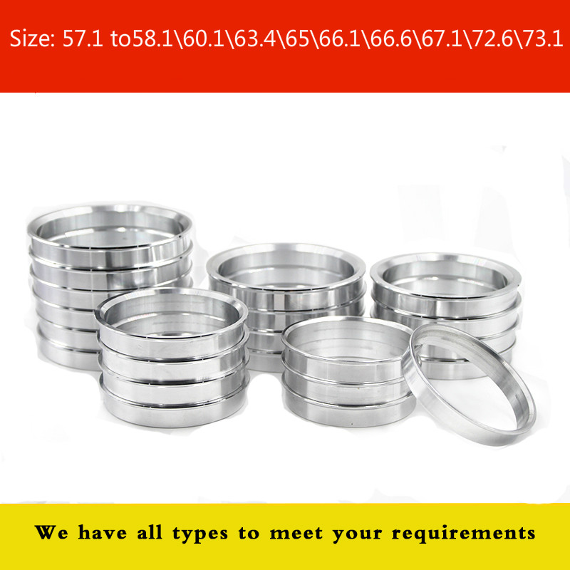4 Pieces/ Lot Wheel Hub Center Rings OD 57.1 To58.1\60.1\63.4\65\66.1\66.6\67.1\72.6\73.1 Aluminum Alloy Centric Hub Ring