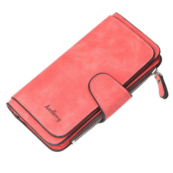 Women Wallets Name Engrave Fashion Long Leather Top Quality Card Holder Classic Female Purse  Zipper  Wallet For Women 9