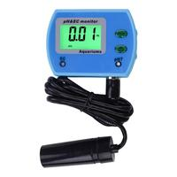Portátil digital ph/ec medidor de condutividade detector acidometer qualidade da água pureza tester caneta filtro medição com luz de fundo