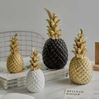 Kreative Ananas Dekoration Nordic Obst Form Goldene Ananas Dekoration Harz Schwarz Weiß Hause Schlafzimmer Desktop Decor