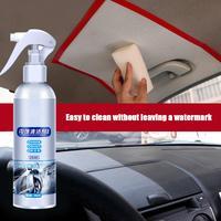 Limpiador de techo Interior de coche, agente de limpieza sin agua, tela tejida de franela de cuero, 260ML