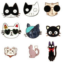 Cartoon Animal Brooch Pin Cute Cat Metal Brooches For Women Vintage Lapel Pin Set Hat Bag Accessories Scarf Buckle Jewelry Gift