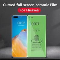 100D de cerámica de vidrio Protector para Huawei P40 P30 pro vidrio Protector de pantalla para huawei mate 30 20 película protectora Pro