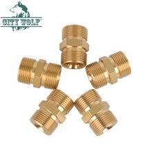 High Pressure Wash Brass Adaptor M22 *1.5 Thread Joint Spray Water Gun Hose Connector Car Washer Spare Parts City Wolf