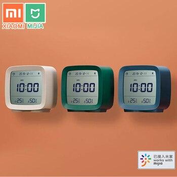 Xiaomi Cleargrass Bluetooth Alarm Clock Temperature Humidity Display LCD Screen Adjustable Nightlight With Mijia APP Smart Home