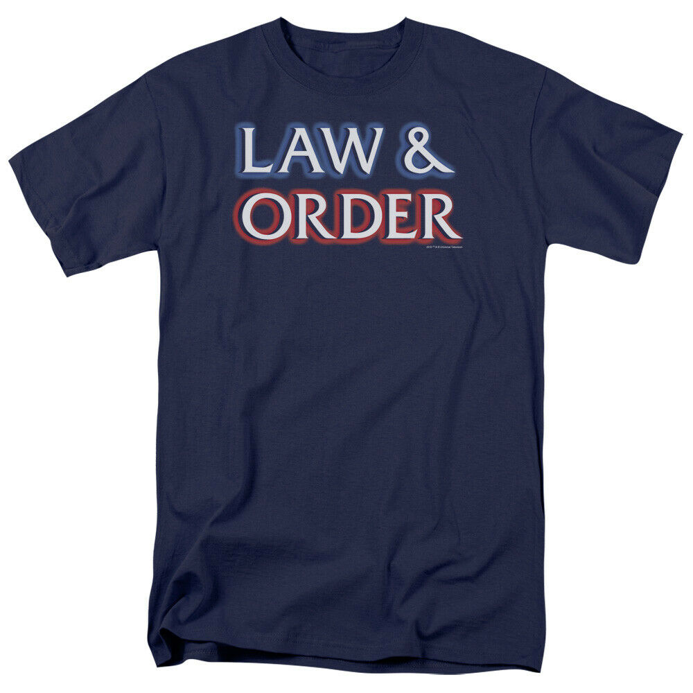 Law And Order Logo Licensed Adult T Shirt