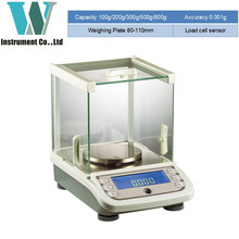 300g 500g 1mg Precision Laboratory Balance Scale for Gold Diamond Scale Jewelry Stainless Steel Digital Scale 0.001g