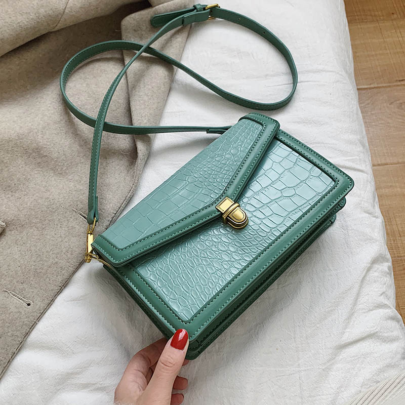 Stone Pattern PU Leather Small Crossbody Bags For Women 2020 Fashion Shoulder Messenger Bag Female Solid Color Handbag