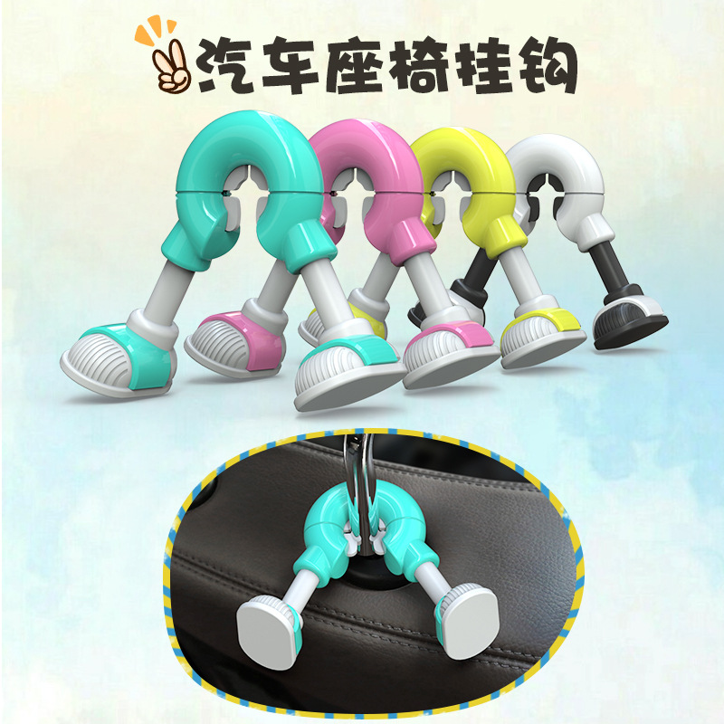 Cartoon Car Decoration Seat Back Hook Accessories Cargo Organizer Holder Headrest Luggage Hook Claw Shape Ornaments in Ornaments from Automobiles Motorcycles