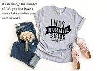 PADDY DESIGN I Was Normal Three Kids Ago T-shirt Funny Mom Life Women Tops Tee Mother's Day Female T Shirt Letter Print Tshirt(China)