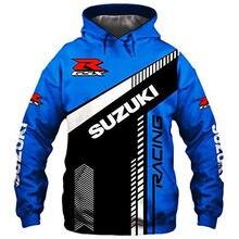 2021 primavera e outono nova suzuki hoodie 3d impressão esportes pulôver jaqueta de motocicleta hip-hop rua tendência topo