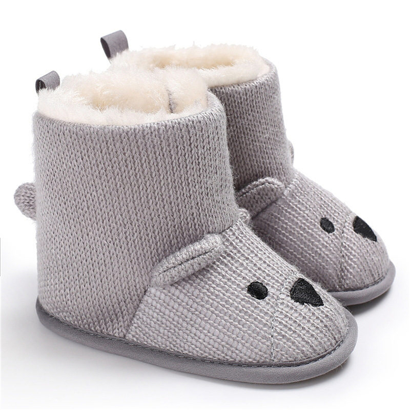 Baby Boots Keep Warm Animal Pattern Shoes Winter Floor Boots Infant Newborn First Walkers Toddler Girls Boys Soft Sole Footwear
