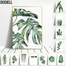 Candinavian-Póster de plantas tropicales, cuadro decorativo de hojas verdes, pinturas de arte de pared modernas para sala de estar, decoración del hogar