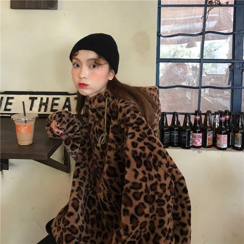 Luipaard jas vrouwen wol Herfst Winter Wollen Mix Jas Lange Slanke Jassen trenchcoats Dames Overjassen Vrouwelijke Uitloper S0185