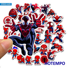 35pcs Super Hero Marvel Spider-Man Stickers for Mobile Phone Laptop Luggage Suitcase Guitar Skateboard Bicycle Car Decal Sticker