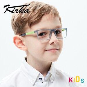 Image 2 - Kirka lunettes TR90 montures de lunettes pour enfants, montures de verre Flexible, doux, optique