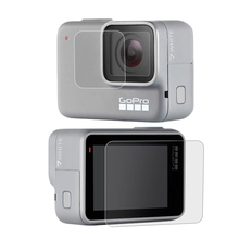 For GoPro Hero 7 Silver / White Camera Lens LCD Screen Premium Tempered/Plastic Glass Protector Film