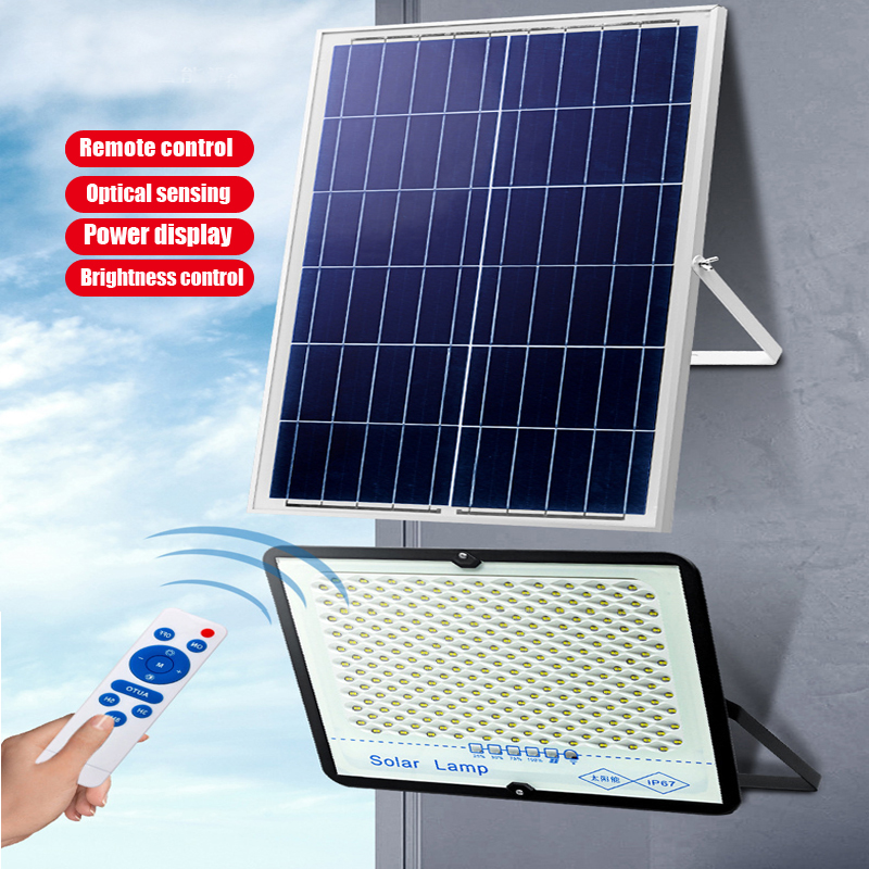 A2 Solar Light Super Bright solar lamp 6000mA battery Wireless Outdoor Garden Waterproof large Solar panel light